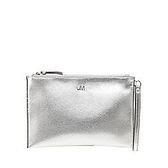 Star by Julien Macdonald - Silver metallic textured clutch bag