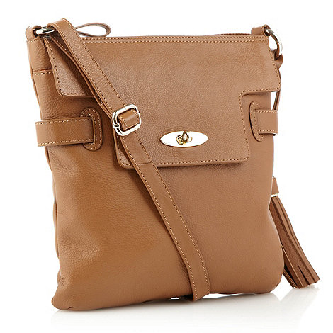RJR.John Rocha - Designer tan across body bag with charm