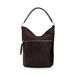 Principles by Ben de Lisi - Dark red croc-effect shoulder bag