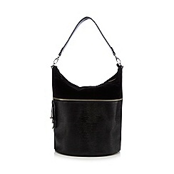 Principles by Ben de Lisi - Black mock-croc tasselled shoulder bag