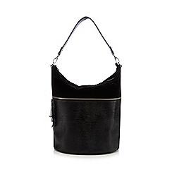 Principles by Ben de Lisi - Black mock-croc tasselled shoulder bag