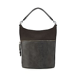 Principles by Ben de Lisi - Grey croc-effect shoulder bag