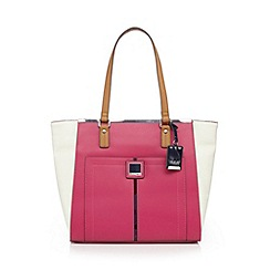 Principles by Ben de Lisi - Pink colour block tote bag