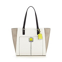 Principles by Ben de Lisi - Grey colour block tote bag