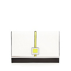 Principles by Ben de Lisi - White colour block clutch bag
