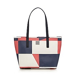 Principles by Ben de Lisi - Navy graphic print shopper bag