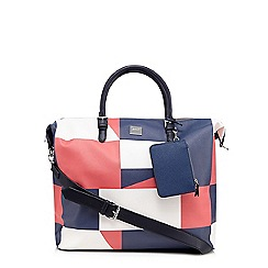 Principles by Ben de Lisi - Navy graphic print weekender bag