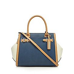 Principles by Ben de Lisi - Navy buckle detail large winged tote bag