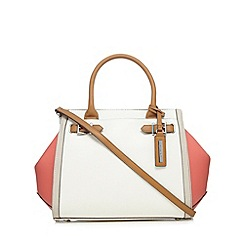 Principles by Ben de Lisi - White buckle detail large winged tote bag