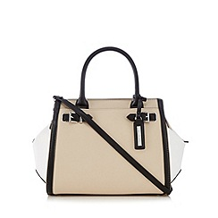 Principles by Ben de Lisi - Cream buckle detail large winged tote bag