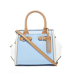 Principles by Ben de Lisi - Light blue buckle detail small winged tote bag