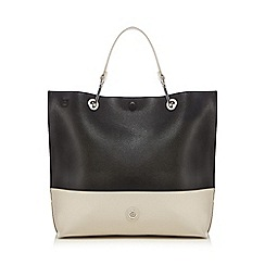 Principles by Ben de Lisi - Black colour block slouchy shopper bag