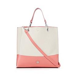 Principles by Ben de Lisi - Coral colour block slouchy shopper bag