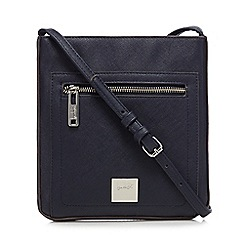 Principles by Ben de Lisi - Navy front zip pocket cross body bag