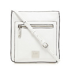 Principles by Ben de Lisi - White front zip pocket cross body bag