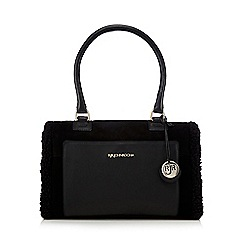 RJR.John Rocha - Black shearling detail grab bag