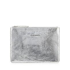 RJR.John Rocha - Silver metallic clutch bag