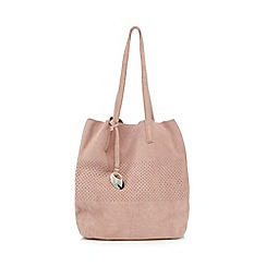 RJR.John Rocha - Pink perforated shopper bag