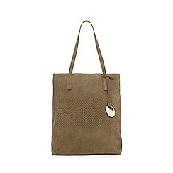 RJR.John Rocha - Khaki perforated shopper bag