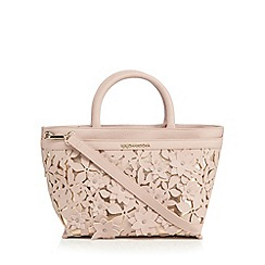 RJR.John Rocha - Light pink floral applique grab bag