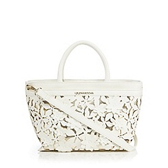 RJR.John Rocha - White floral applique grab bag