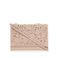 RJR.John Rocha - Light pink floral applique clutch bag