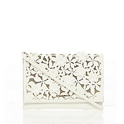 RJR.John Rocha - White floral applique clutch bag