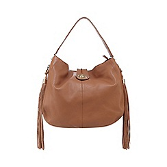 Butterfly by Matthew Williamson - Tan leather tasselled shoulder bag