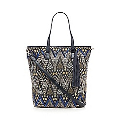 Butterfly by Matthew Williamson - Blue geometric embellished shoulder bag