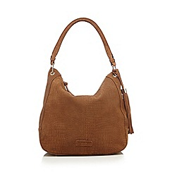 Butterfly by Matthew Williamson - Tan croc-effect cross body bag