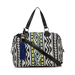 Butterfly by Matthew Williamson - Black Aztec inspired weekend bag