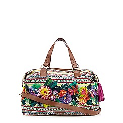 Butterfly by Matthew Williamson - Green tropical print weekender bag