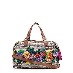 Butterfly by Matthew Williamson - Green tropical print weekender bag