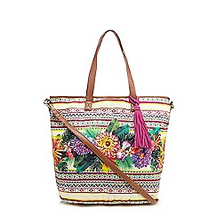 Butterfly by Matthew Williamson - Green tropical print shoulder bag