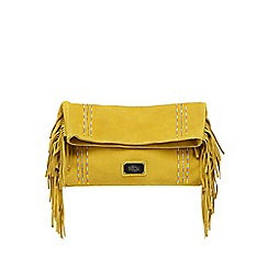 Butterfly by Matthew Williamson - Yellow suede beaded clutch bag