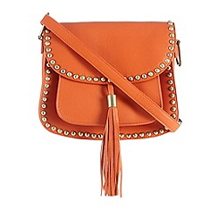 Butterfly by Matthew Williamson - Orange studded saddle bag