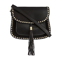 Butterfly by Matthew Williamson - Black studded saddle bag