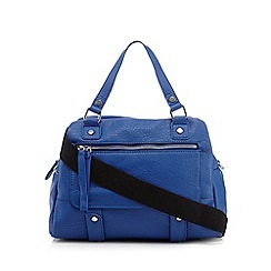 Betty Jackson.Black - Blue bowler bag