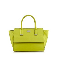 Betty Jackson.Black - Lime large winged tote bag
