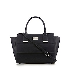 Betty Jackson.Black - Navy small winged tote bag