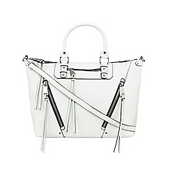Betty Jackson.Black - White knot detailed tote bag
