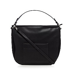 Betty Jackson.Black - Black front pocket detail shoulder bag