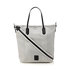 Betty Jackson.Black - Grey perforated shopper bag
