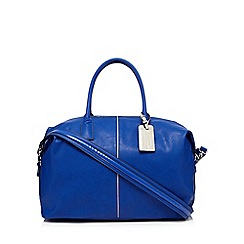 Betty Jackson.Black - Bright blue weekender bag