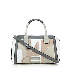 Betty Jackson.Black - Grey patchwork grab bag