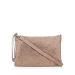 Nine by Savannah Miller - Light pink studded clutch bag