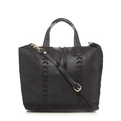 Nine by Savannah Miller - Black chevron whipstitch tote bag