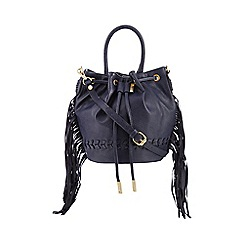 Nine by Savannah Miller - Navy chevron whipstitch duffle bag