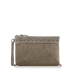 Nine by Savannah Miller - Grey studded clutch bag