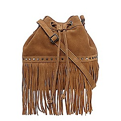 Nine by Savannah Miller - Tan suede duffle bag